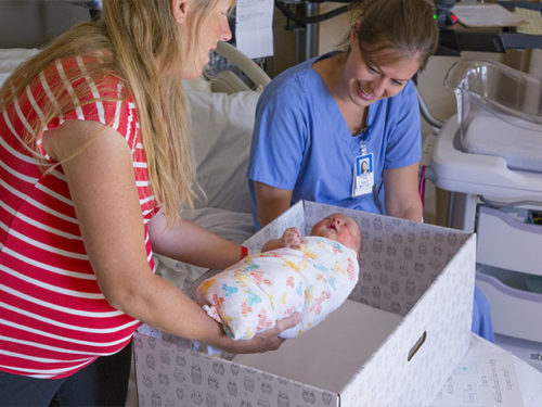 baby boxes at St. Luke's